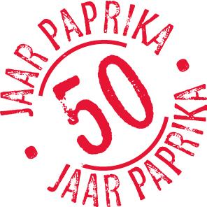 stempel 50 jaar Gebroeders van der Lelij: 50 Jaar Nederlandse Paprikateelt stempel 50 jaar